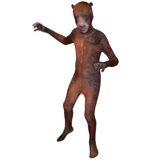 Morphsuit Bambini Animal Planet Orso Grizzly