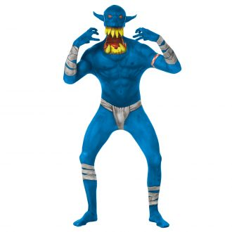 Morphsuit Strabiliante Orco - Blu