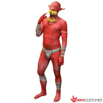 Morphsuit Strabiliante Orco - Rosso